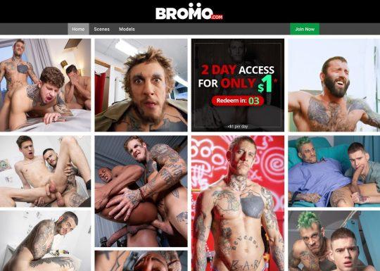 Bromo Gay Pornosite zit vol met sexy homomannen met tatoeages