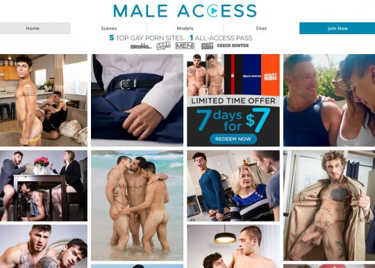 Male Access Porn Network Get Access to 5 Sites For the Price of 1