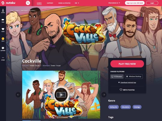 Cockville Nutaku the Sim-like Dating Game Where You Create Relationships With Sexy Clients