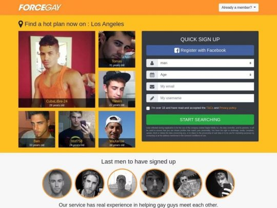 ForceGay Gay Hookup Site a Dating Site to Catch a Gay Hot Man