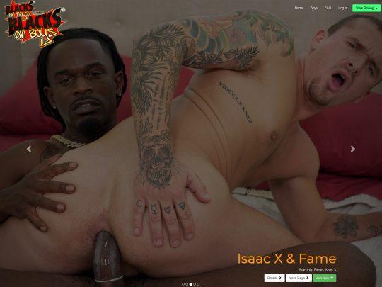 Blacks on Boys - Watch Thousands of HD Videos of Gay Interracial Black Porn