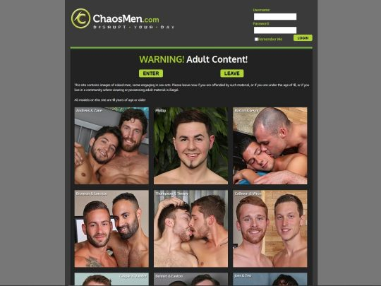 Chaosmen Gay Porn Site Sign Up and Stream and Download Over 2500 Gay Porn Videos