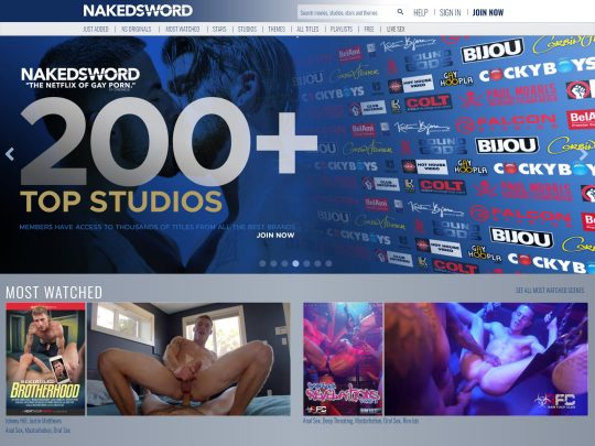 Naked Sword Porn Site Review The Netflix of Gay Porn